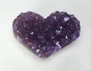 天然心形小型紫水晶