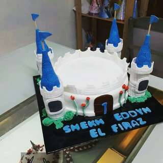 Castle custom cake.