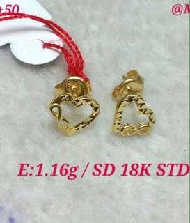Earrings 18k Saudi