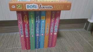 Dork Diary books (9 books, 1 hardcopy)