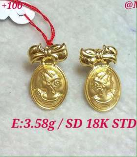 Earrings 18k saudi