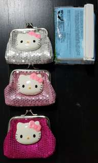 Hello Kitty Sequin Clip Coin Purse