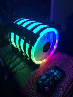 Rgb ring led 12cm fan controller package