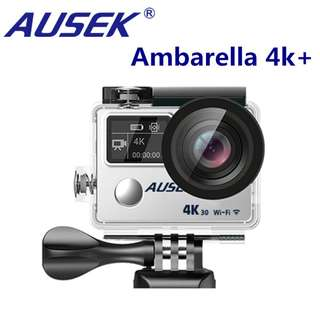 AUSEK AT-A890 TRUE 4K30fps Action Camera with EIS & Dual Screen