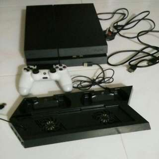 Ps4 Playstation Console With Cooling Fan Charge Port, Power Cable, HDMI And Usb Cable, One Controller