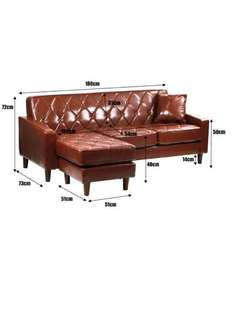 L shaped 3 seater sofa