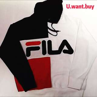 FILA HOODIE NAVY/WHITE/RED