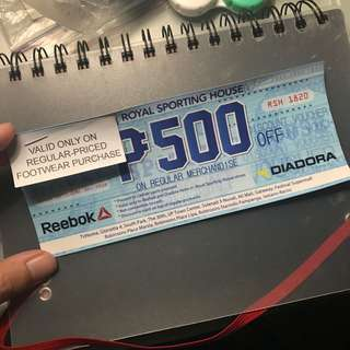 500 OFF VOUCHER @ any Royal Sporting House Branch