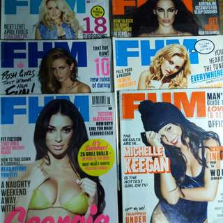 FHM UK back issues | Php 50 each