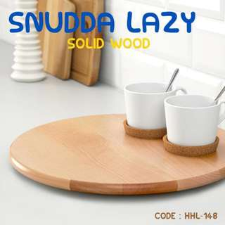 PROMO SNUDDA PAPAN SAJI KAYU SOLID TURNING SERVING WOOD PLATE