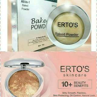 ERTOS BAKED POWDER ALL IN 1 / BEDAK ERTO'S BAKED POWDER ORIGINAL BPOM