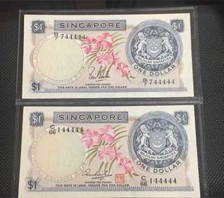 Orchid Series $1 UNC