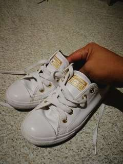 Converse All Star White and Gold