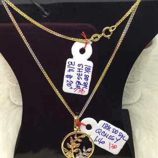 18k saudi gold necklace for her ♥