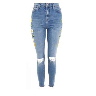 Embroidered Jamie Jeans