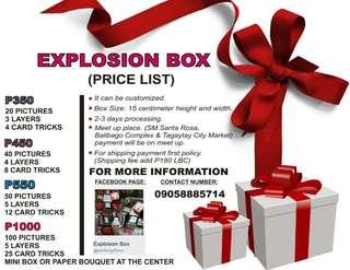 EXPLOSION BOX 🎁🎀