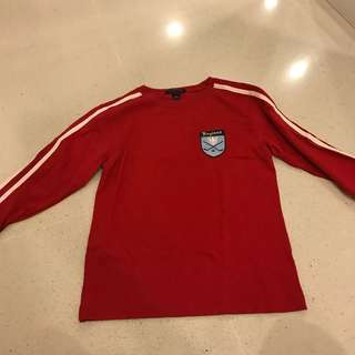 Boys Long Sleeved Shirt with England Motif