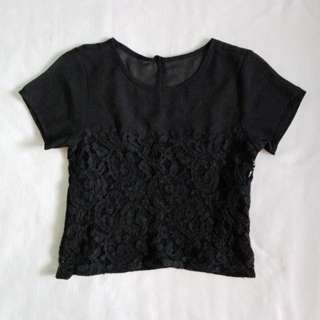 Mesh & Lace Top from Oxygen