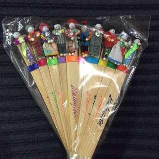 🚚 木質娃娃書籤(10隻)
