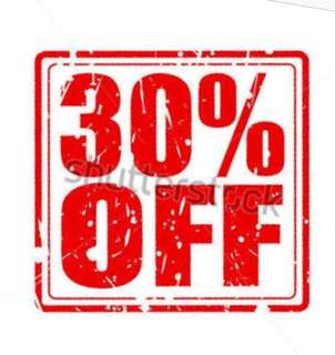 We offer 30% off on pre-loved clothing. Order now!