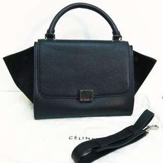 Celine Trapeze Mini Shoulder Leather Handbag Bag