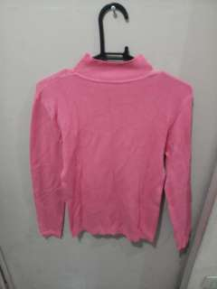 Salmon colored Half Turtle neck blouse - FREE SHIPPING