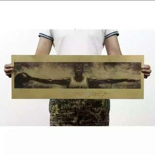 🚚 喬丹之翼牛皮紙海報
