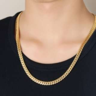 Gold Plated Link-Chain Necklace (For Men) with free silver gift box