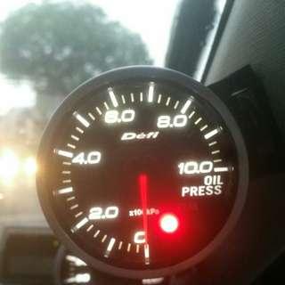 Defi oil pressure