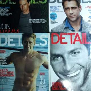 Details Magazines back issues | Php 100 each