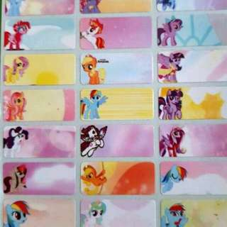 Little Pony waterproof name sticker label