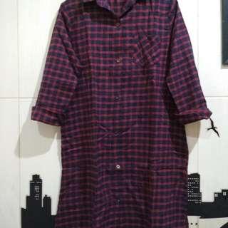Shirt Dress Kotak