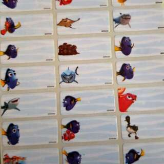 Finding Dory waterproof name sticker label