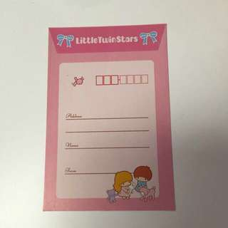 Little Twin Stars Letter Paper and Envelope Set