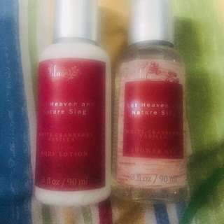 LiLagrace Showergel and Lotion bundle