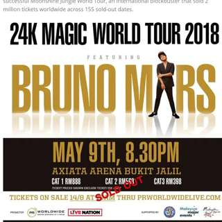 2xCAT 1 Bruno Mars 2018 Malaysia