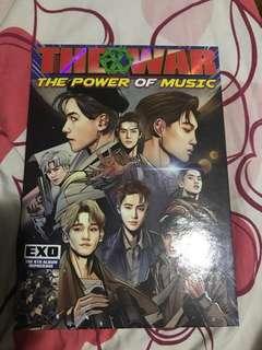 Exo the war 專輯(xiumin小卡)