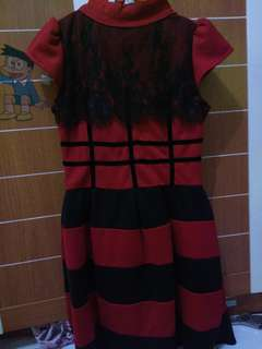 Dress Merah with Lace