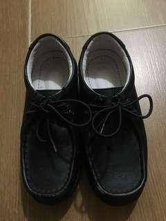 黑色返學皮鞋 黑鞋 番學鞋