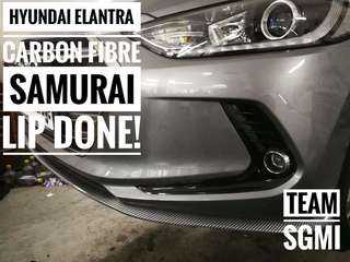 Hyundai Elantra Carbon Fibre Samurai Lip Installed!** INSTALLATION PROVIDED!**