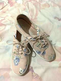 REPRICED!! KEDS Pink Floral Shoes ( not auth)