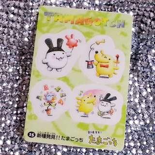 絕版 多年前購自日本 Bandai 1998 Made in Japan TAMAGOTCH Card 他媽哥池咭 no. 15