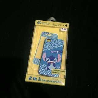 Stitch Iphone 4 Case with tempered