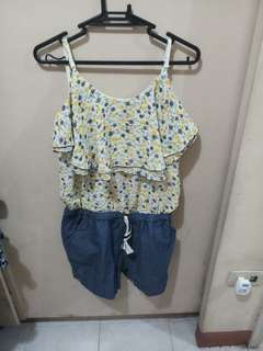 Crissa Maong colored and Floral Jumpshort - FREE SHIPPING