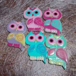 Owl Candy Colours Brooch