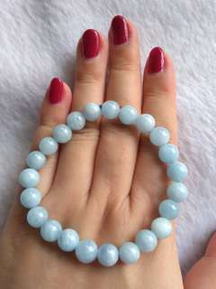 💐$68 Special Promo - Natural Blue Aquamarine 海蓝宝 手链 Bracelet💐