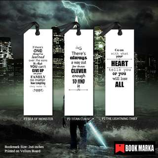 Percy Jackson Bookmarks