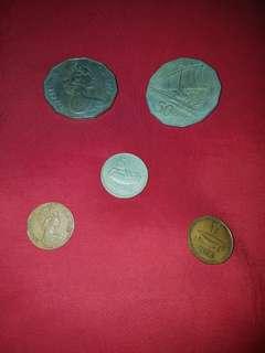 Fiji coins - see description below