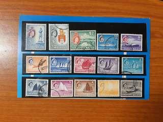 Singapore Malaya Stamps set(used)