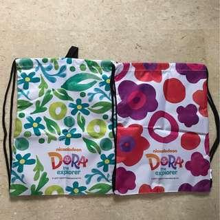 <Bundle Deal> DORA The Explorer Drawstring Backpack Bag (2 Bags)